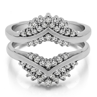 0.52 Ct. Triple Row Prong Set Anniversary Ring Guard