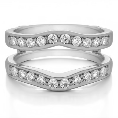0.75 Ct. Contour Prong In Channel Set Enhancer Ring Guard
