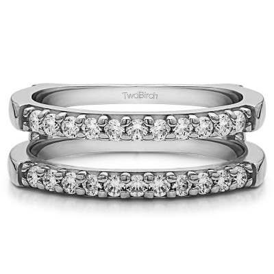 0.51 Ct. Double Shared Prong Straight Ring Guard