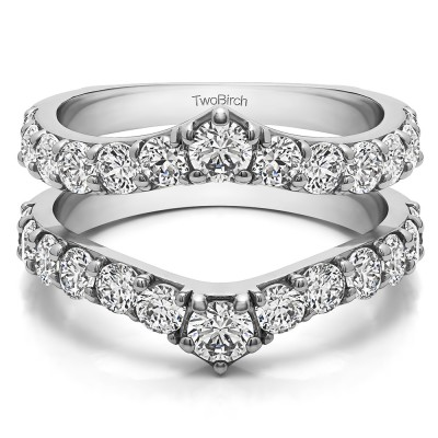 0.35 Ct. Graduated Shared Prong Contour Ring Guard