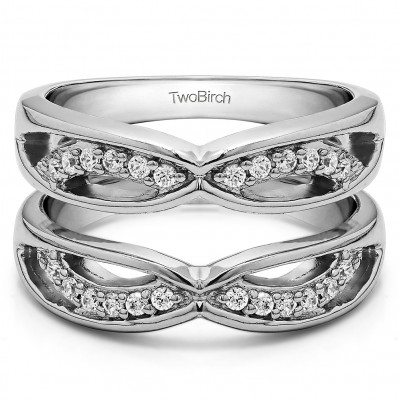 0.24 Ct. Criss Cross Anniversary Jacket Ring Guard