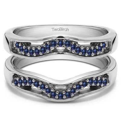 0.26 Ct. Sapphire Prong in Channel Curved Ring Guard Enhancer