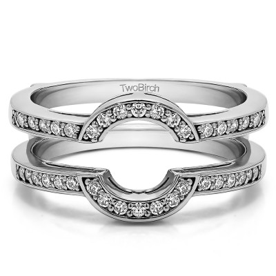 0.38 Ct. Round Halo Wedding Ring Guard