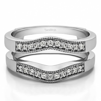 0.26 Ct. Contour Prong In Channel Wedding Ring Guard
