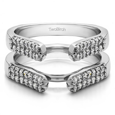 0.56 Ct. Double Row Cathedral Ring Guard