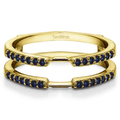 0.28 Ct. Sapphire Delicate Shared Prong ring guard in Yellow Gold