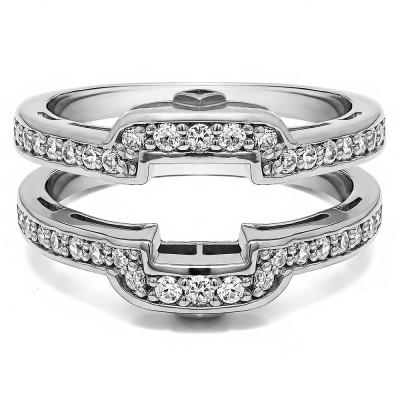 .50 Ct. Square Halo Peek-a-Boo Wedding Ring Guard