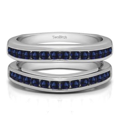 0.66 Ct. Sapphire Channel Set Contour Wedding Ring