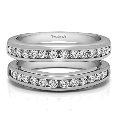 0.66 Ct. Channel Set Contour Wedding Ring