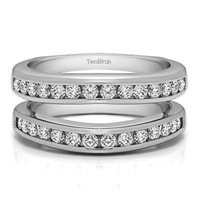 0.66 Ct. Channel Set Contour Wedding Ring