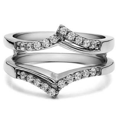 0.3 Ct. Bypass Prong Set Wedding Ring Guard