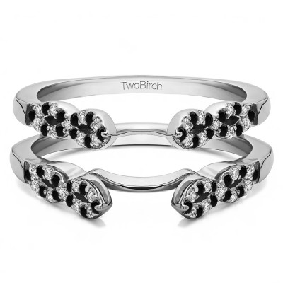 0.38 Ct. Black and White Stone Infinity Ring Guard Enhancer