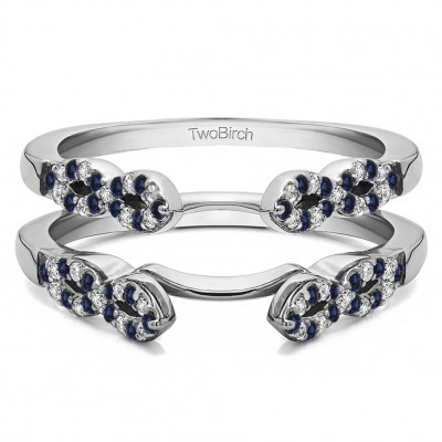 0.38 Ct. Sapphire and Diamond Infinity Ring Guard Enhancer
