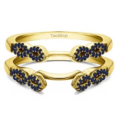 0.38 Ct. Sapphire Infinity Ring Guard Enhancer in Yellow Gold