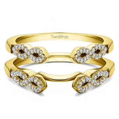 0.38 Ct. Infinity Ring Guard Enhancer in Yellow Gold