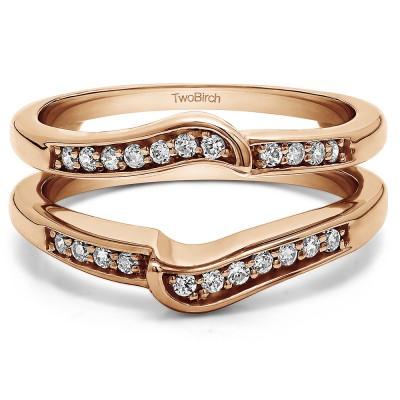 0.22 Ct. Channel Set Knott Designed Ring Guard Enhancer in Rose Gold