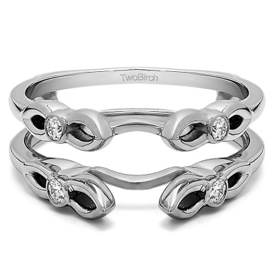 0.2 Ct. Cathedral Infinity Designed Ring Guard