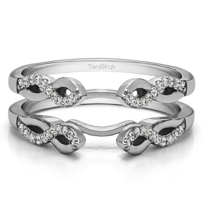 0.22 Ct. Cathedral Infinity Designed Wedding ring guard