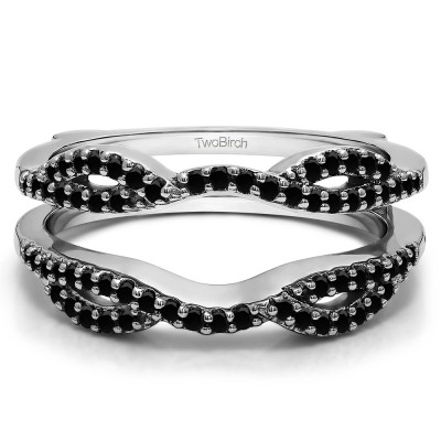 0.32 Ct. Black Stone Infinity Criss Cross ring guard