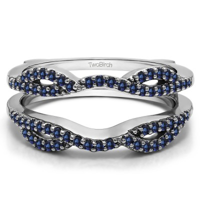 0.32 Ct. Sapphire Infinity Criss Cross ring guard