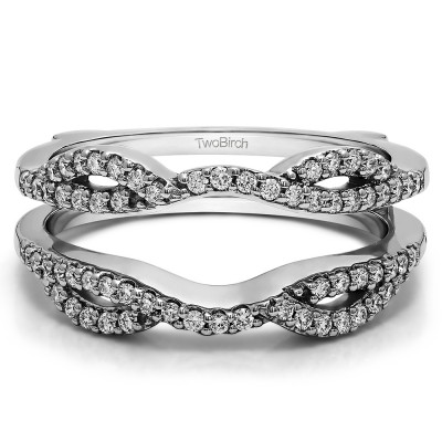 0.32 Ct. Infinity Criss Cross ring guard