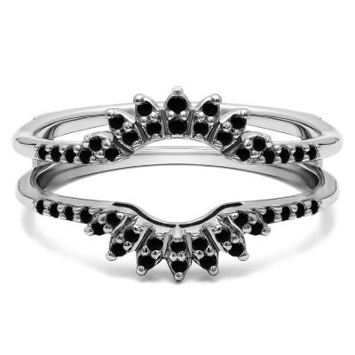 0.2 Ct. Black Stone Contoured Wedding Ring Jacket