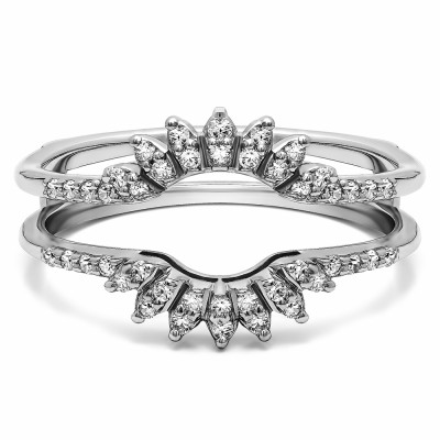 0.2 Ct. Contoured Wedding Ring Jacket