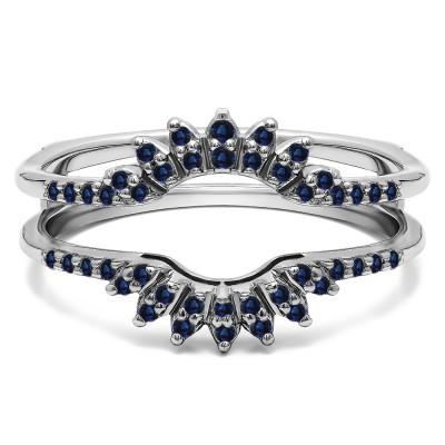 0.2 Ct. Sapphire Contoured Wedding Ring Jacket