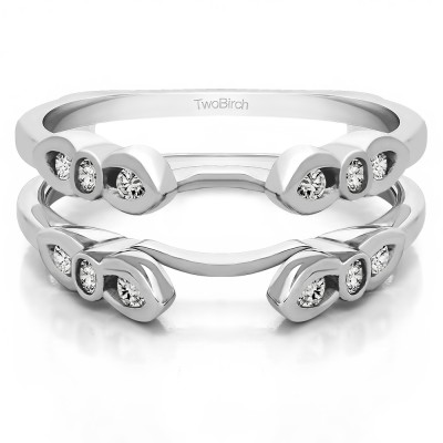 0.08 Ct. Bezel Cathedral Wedding Ring Guard