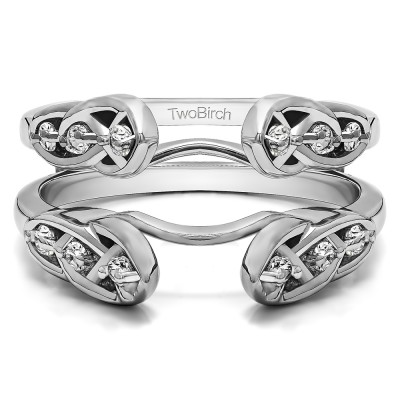 0.24 Ct. Infinity Cathedral Celtic ring guard