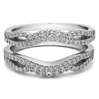 0.57 Ct. Double Infinity Wedding Ring Guard Enhancer