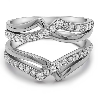 0.73 Ct. Criss Cross Infinity ring guard