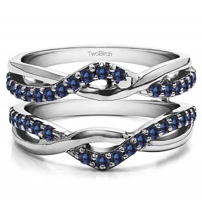 0.57 Ct. Sapphire Criss Cross Infinity Ring Guard Enhancer