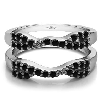 0.51 Ct. Black Stone Infinity Cross Ring Guard
