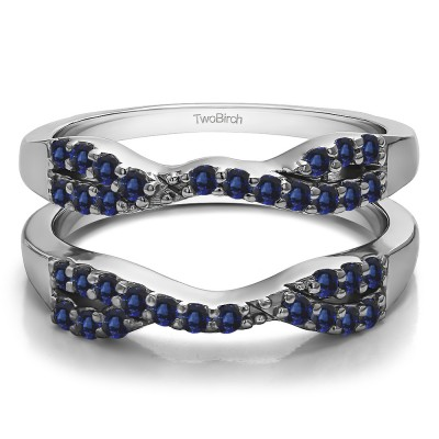 0.51 Ct. Sapphire Infinity Cross Ring Guard