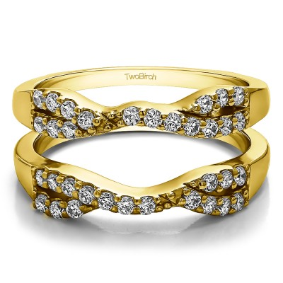 0.51 Ct. Infinity Cross Ring Guard in Yellow Gold