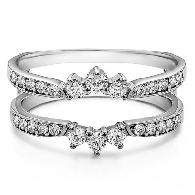 0.56 Ct. Crown Inspired Half Halo Ring Guard