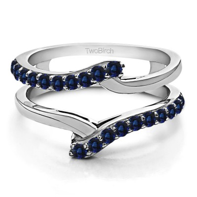 0.5 Ct. Sapphire Bypass Shared Prong Ring Guard