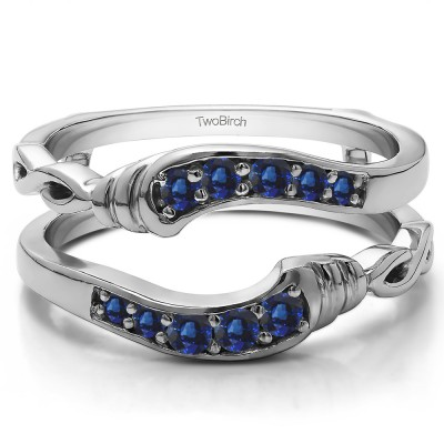 0.22 Ct. Sapphire Infinity Bypass Ring Guard