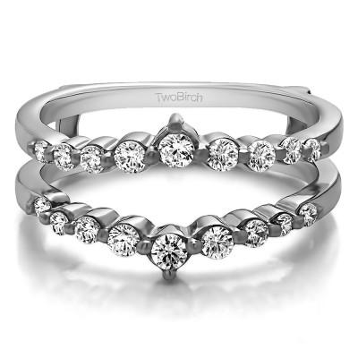 0.42 Ct. Single Shared Prong Wedding Jacket Ring