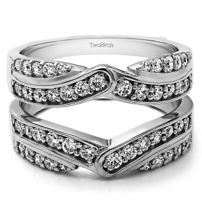 1.01 Ct. Infinity Bypass Engagement Ring Guard