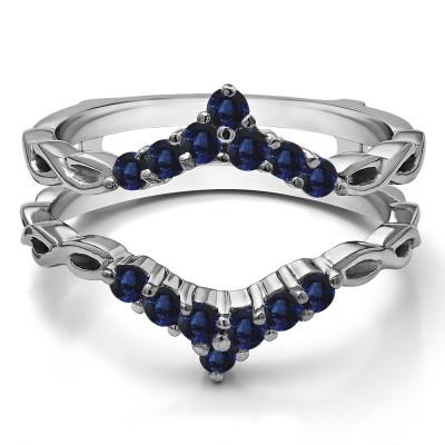 0.45 Ct. Sapphire Infinity Chevron Ring Guard Enhancer