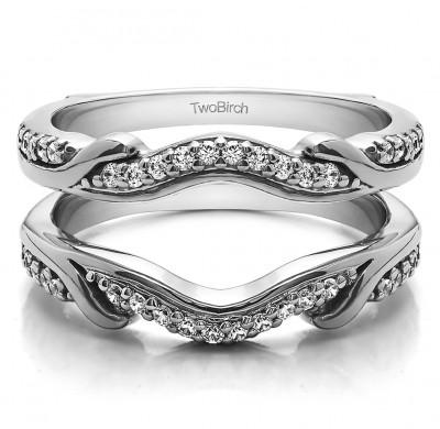 0.26 Ct. Contoured Leaf Wedding Ring Jacket