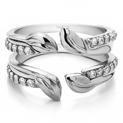 0.46 Ct. Open Leaf Ring Guard