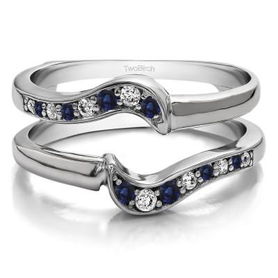 0.25 Ct. Sapphire and Diamond Small Knott Ring Guard Enhancer
