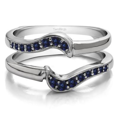 0.25 Ct. Sapphire Small Knott Ring Guard Enhancer