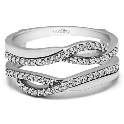 0.39 Ct. Shared Prong Set Infinity Wedding Ring Guard