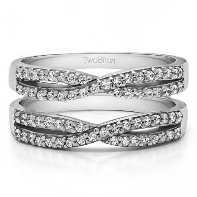 0.48 Ct. Criss Cross Wedding Ring Guard