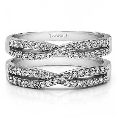 0.48 Ct. Criss Cross Wedding Ring Guard