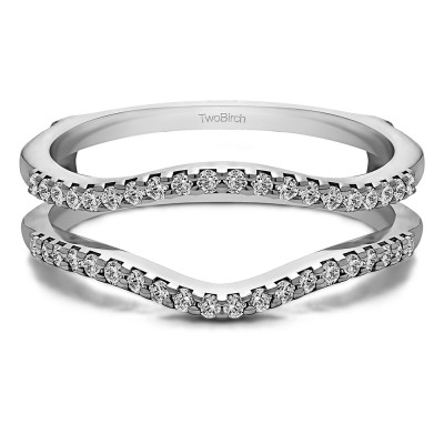0.3 Ct. Double Shared Prong Contour Ring Guard